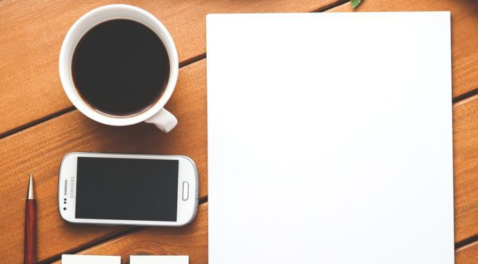 good morning cards - coffee smartphone desk pen