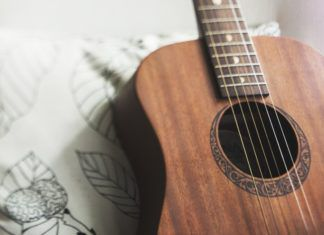 guitars backgrounds - stock images