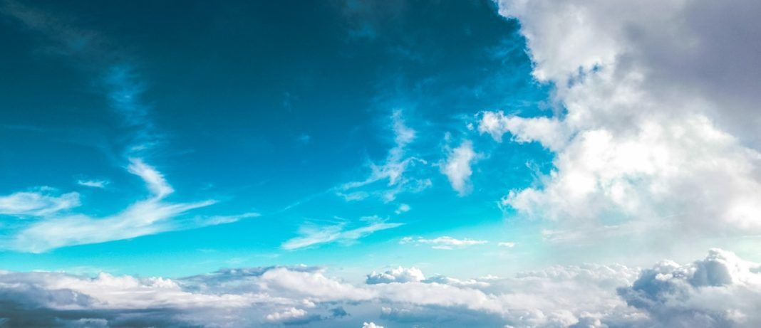 vector clouds stock image