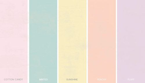 Pastel Colors - Spectrum and Shades