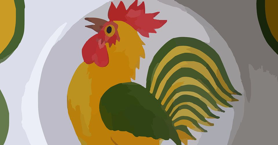 Cartoon Rooster