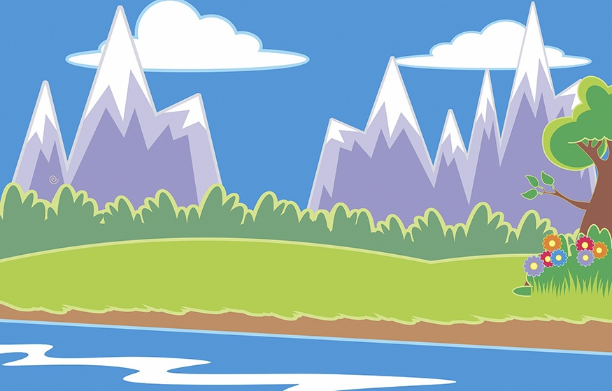 Mountain and Forest Clipart